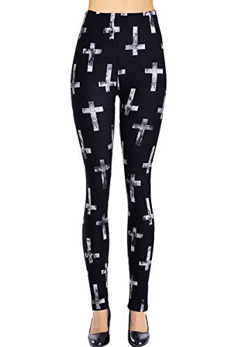 VIV Collection Printed Leggings (Antique -
