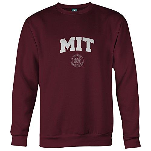 Ivysport MIT University Crewneck Sweatshirt, Crest, Maroon, Large
