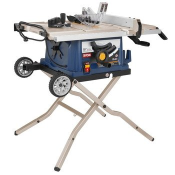 Attractive Ryobi ZRRTS30 10 In Table Saw With Wheeled Stand (Certified Refurbished)