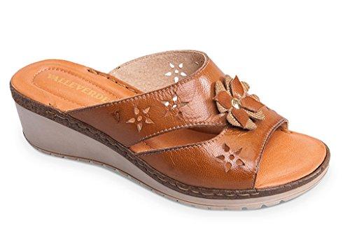 VALLEVERDE Women's Fashion Sandals Marrone (Nocciola) dni64baw64