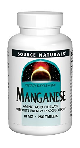 Source Naturals Manganese 10 mg Amino Acid Chelate Supplement - 250 Tablets