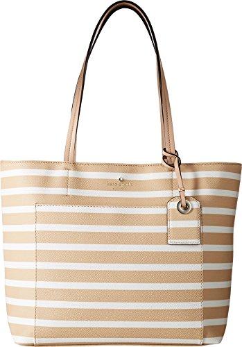 Kate Spade New York Women's Hyde Lane Stripe Small Riley Classic Camel/Cream Handbag