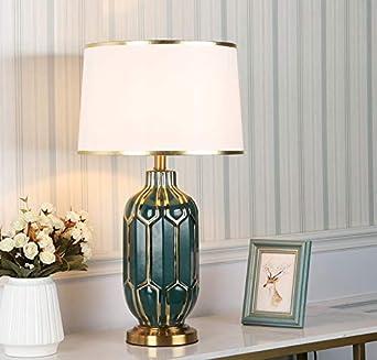 Lampara de mesa noche Poste de luz lujo moderno minimalista Tabla Lámpara de cerámica nórdica de
