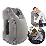 Povinmos Travel Pillow Sleep Aid, Premium Comfortable Inflatable Portable Head Neck Rest Pillow