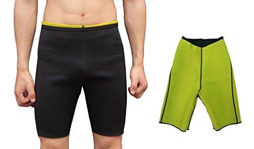 Ausom Mens Sweat Body Shaper Shorts Hot Thermo Slimming Sauna Pants Weight Loss Black - Reviews Neoprene Pants