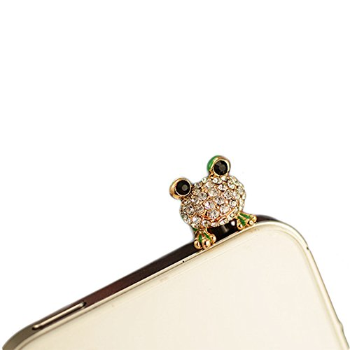 Eastern Delights Green Frog 3.5mm Anti Dust Plug, Cell Charms Dust Plug-earphone Jack Accessories