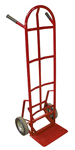 Winholt-99MRPO-Push-Off-Steel-Hand-Truck-8-Mold-On-Rubber-20-Width-19-Length-495-Height-600-lb-Capacity-Red
