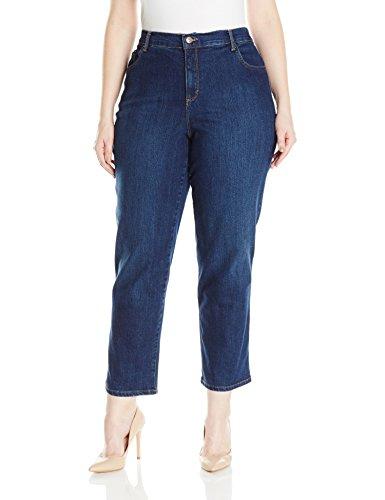 Gloria Vanderbilt Women's Plus Size Amanda Classic Tapered Jean, Scottsdale Wash, 22W Short (Womens 22 Size Jeans)