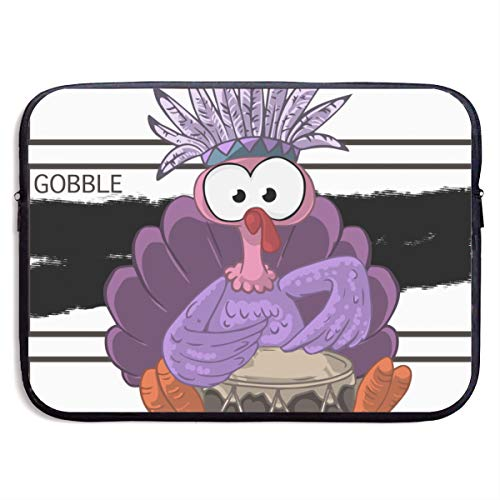 Gobble 'til You Wobble Funny Thanksgiving Holiday Turkey,Thanksgiving A Time to Remember Graffiti 3D Print Laptop Packs 15 Inch