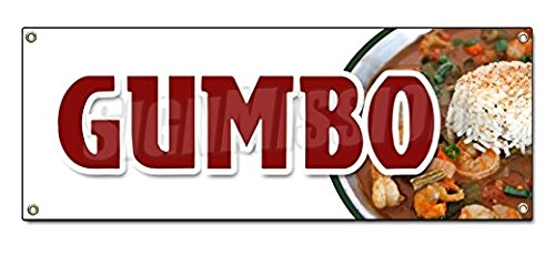 Gumbo Sticker Sign Louisiana Creole Andouille Sausage Homemade Shrimp Sticker Sign - Sticker Graphic Sign - Will Stick to Any Smooth ()