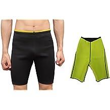 Ausom Mens Sweat Body Shaper Shorts Hot Thermo Slimming Sauna Pants Weight Loss Black Shapewear