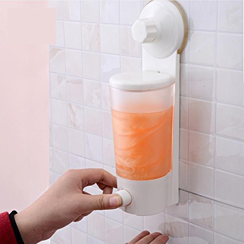 Suction Cup Wall Mounted Single Lotion Dispensers Liquid Soap Dispenser by shuangqing