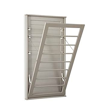 Space Saving Wall Mount Drying Rack - Large - TAUPE COLOR