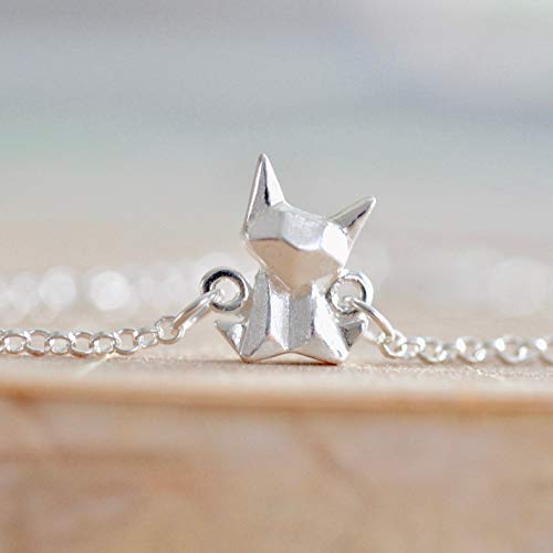 (Origami Cat Charm Bracelet in Sterling Silver 925 - Jamber Jewels)