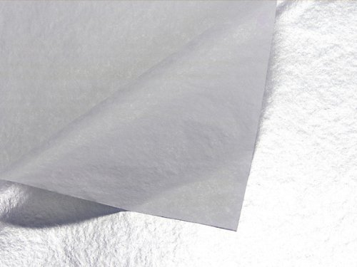 Metallic Silver Tissue Paper 200~20''x30'' Sheets 1-sided (200 Sheets) - WRAPS-P41 by Miller Supply Inc