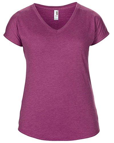 Anvil - Camiseta - para mujer Heather Raspberry