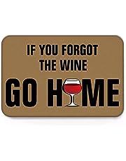 SOTUVO deurmatten binnen Als u de wijn Go Home Mat Slaapkamer Entree Deurmat Home Floor Decoratie Woonkamer Tapijt Badkamer Antislip Tapijt