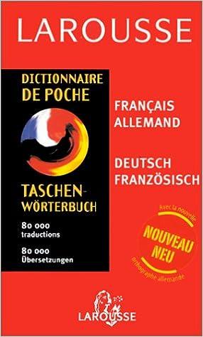 Livre gratuits en ligne Dictionnaire de poche : Allemand/français, français/allemand pdf, epub ebook