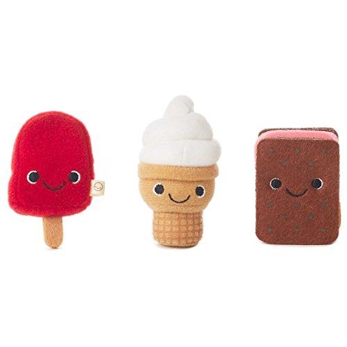 Hallmark Happy Go Luckys Cool Kids Mini Stuffed Animals, Set of 3 Classic Stuffed Animals Food & Drink