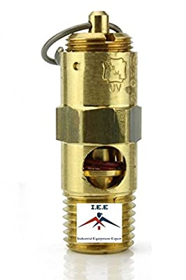 "1/4"" NPT 125 PSI Air Compressor Safety Relief Pressure Valve Tank Pop Off New"