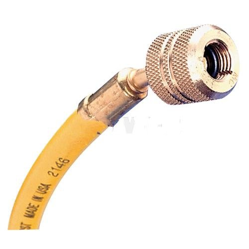 72 R-12 Yellow Hose With Auto Shut-Off Valve Fittings by Mastercool