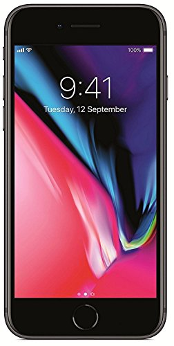 Apple iPhone 8 4.7', 256 GB, Fully Unlocked, Space Gray (Renewed)