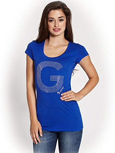 G by GUESS Women's Lorenzo Logo Sweater, JET BLACK (SMALL)
