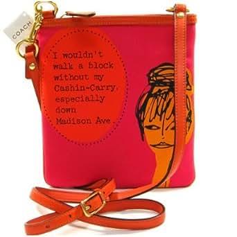 Coach Bonnie Nova Girly Print Swingpack Crossbody Messenger Bag 42605 Orange Fuchsia