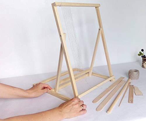 Weaving Loom Kit Beginner Adjustable Looms with Tools Set