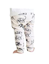 Mapletop Baby Lovely Long Pants Dinosaurs Print Elasticity Harem Trousers