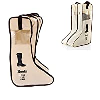 HOUTBY 2PCS Travel Dust-Proof Shoe Organizer Bags Boot Storage Rack Bags Protector Space Saving Storage Bags with Transparent Window
