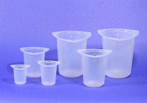 Globe Scientific 3643 Polypropylene Tri-Corner Beaker, Graduated, 400ml Capacity (Case of 100)