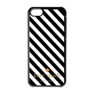 Kate spade New York Luxury brands Print Black/White Case With Hard phone case Cover for for iPhone 5C case¡ê?Kate spade Fashion Popular Classic style 6