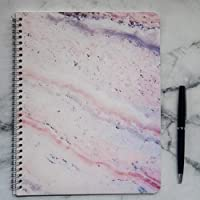 Cuaderno de espiral mármol rosa interior cuadros 100 pgs