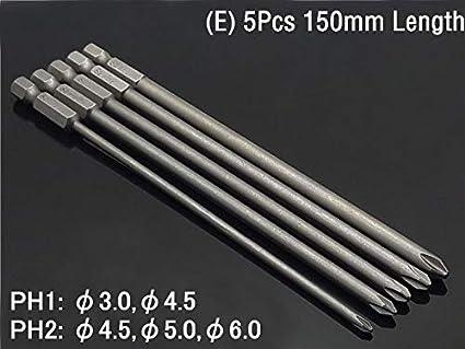Destornillador magnético: PH00 PH0 PH1 PH2 Vástago hexagonal ...