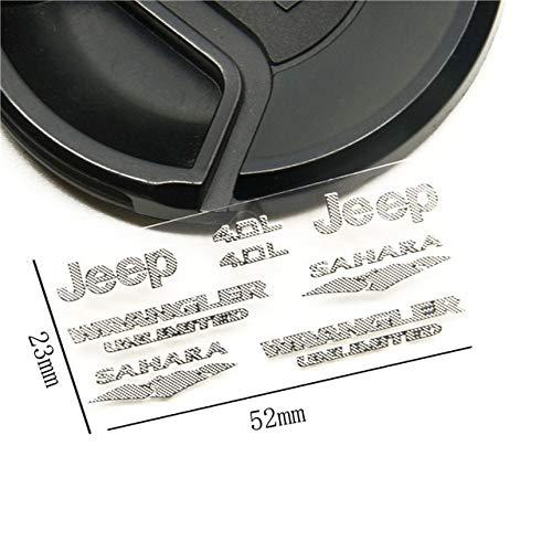 ShineBear 1/10 Scale RC Wrangler Jeep AXIAL SCX10 Jeep JK D90 Logo Marks Stickers Set AX90027 AX90028 AX90034 AX90035 - (Color: Style A)