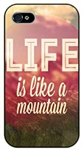 Diy For LG G3 Case Cover Life is like a mountain. Adventure - black plastic Life quotes, inspirational and motivational Surelock Authentic