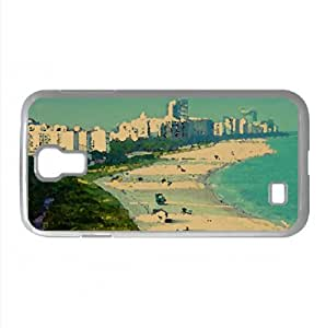 Aerial View Of Miami Beach Watercolor style Cover Samsung Galaxy S4 I9500 Case (Florida Watercolor style Cover Samsung Galaxy S4 I9500 Case)