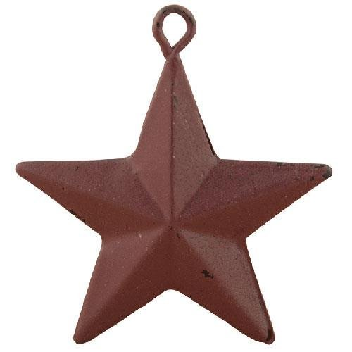 Heart of America Burgundy Star Ornaments - Set of 12