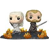 Daenerys Targaryen & Jorah Mormont at The Battle of Winterfell: Fun ko Pop! Moment Vinyl Figure & 1 Official G.O.T. Trading Card Bundle (086 - 44824)