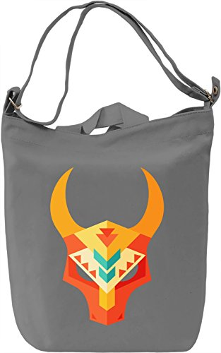 Low poly mask Borsa Giornaliera Canvas Canvas Day Bag  100% Premium Cotton Canvas  DTG Printing 