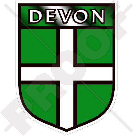 DEVON COUNTY England British Shield Exeter UK Britain 100mm (4