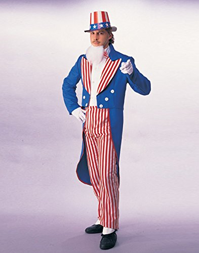 Rubie's Deluxe Adult Uncle Sam Costume, Blue, X-Large
