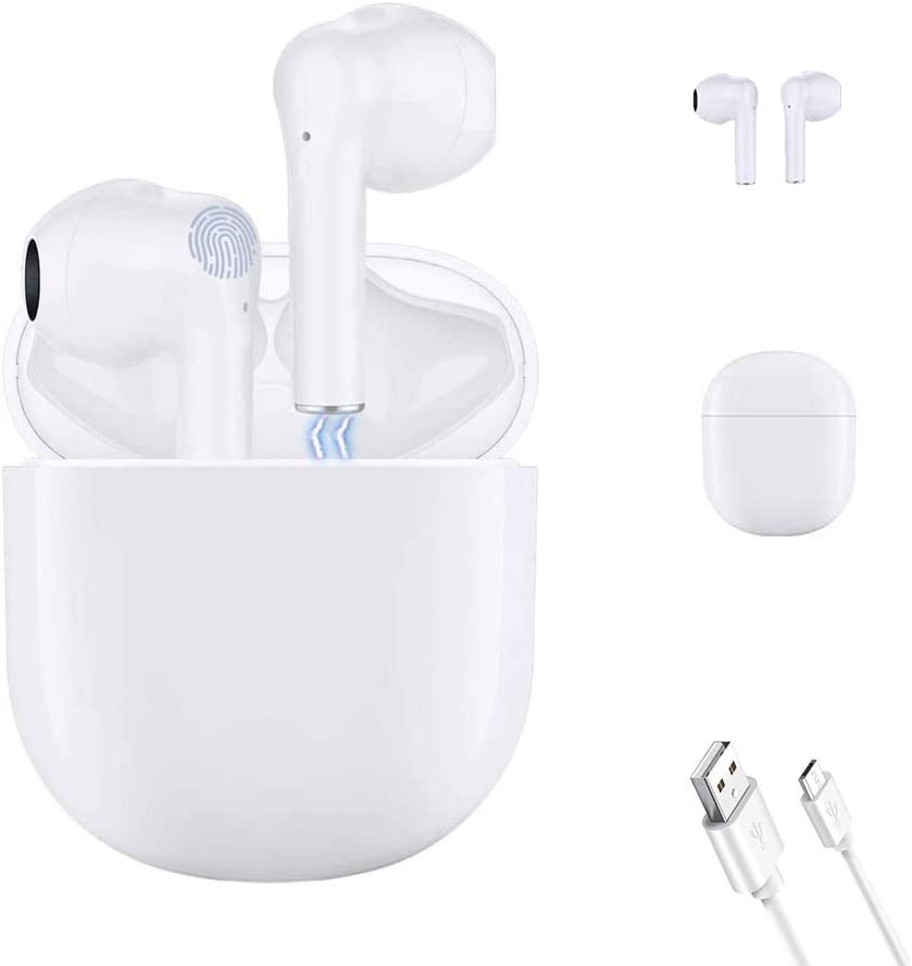 Wireless Headphone,Bluetooth 5.0 Earbuds,pop-ups Auto Connection Touch Control with 30Hour Charging Box,Built-in Microphone in-Ear HD Stereo Headset,for iPhone/Android/Samsung/Apple Airpods/Airbuds
