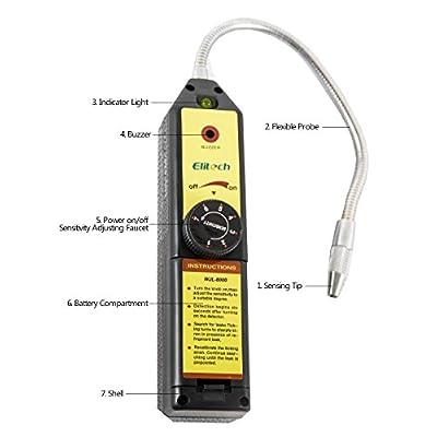 Elitech WJL-6000 Freon Leak Detector Halogen Leak Detector Refrigerant Gas HVAC R22 R410A R134A R1234YF CFCs HCFCs HFCs Detector High Accuracy: Automotive
