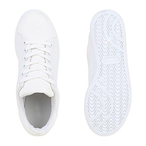 012f8a90f864fd ... Damen Sneakers Velours Metallic Sneaker Low Sportschuhe Schnürer  Turnschuhe Animal Prints Lack Leder-Optik Schuhe
