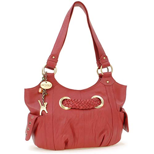 578049ffe613 Collection De Marianne Catwalk Hombro Rojo Bolso Cuero aHddxwg