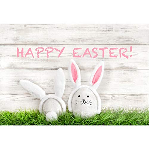 (Yeele-Easter-Backdrop 7x5ft Happy Easter Photography Background Eggs Rabbit Ears Doll Grassland Sunshine Grassland Photo Backdrops Pictures Studio Props Wallpaper)