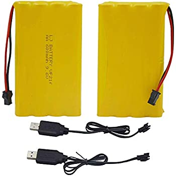Amazon.com: Blomiky C58R 9.6V 600mAh NiCD AA Battery Pack