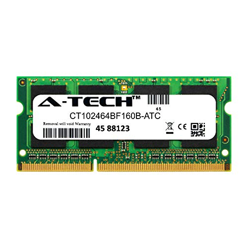 (A-Tech 8GB Replacement for Crucial CT102464BF160B - DDR3/DDR3L 1600MHz PC3-12800 Non ECC SO-DIMM 2rx8 1.35v - Single Laptop & Notebook Memory Ram Stick (CT102464BF160B-ATC))